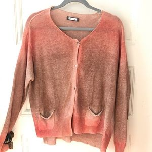 Metamorfosi Hand Painted Silk Linen Cardi Sweater